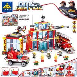Kazi KY80532 80532 Xếp hình kiểu Lego FIRE RESCURE City Fire Fire Command Administration Quản Trị Lệnh Lửa 1155 khối