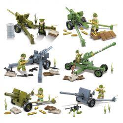 QUANGUAN QUAN GUAN 100079 Xếp hình kiểu Lego HEROES & GENERALS Heros&Generals Hero And General US Military Artillery 6 Pháo Binh Quân Sự Hoa Kỳ 6