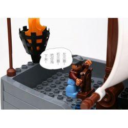 NOT LEGO Duplo 7881 Pirate Ship, Hystoys HongYuanSheng Aoleduotoys HG-1277 Xếp hình thuyền cướp biển 40 khối