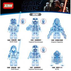 XINH 1503 1504 1505 1506 1507 1508 X0287 0287 Xếp hình kiểu Lego COLLECTABLE MINIFIGURES House 6 Star Wars Holographic Chiến Tranh Giữa Các Vì Sao Hologpson. gồm 6 hộp nhỏ