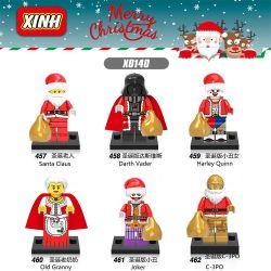 XINH 457 458 459 460 461 462 X0140 0140 Xếp hình kiểu Lego COLLECTABLE MINIFIGURES Merry Christmas House 6 Christmas Special Giáng Sinh đặc Biệt