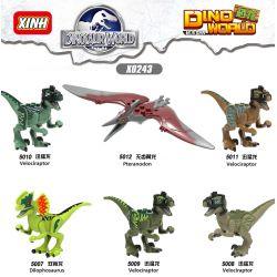 XINH 5010 5011 5012 5013 5014 5015 X0243 0243 Xếp hình kiểu Lego COLLECTABLE MINIFIGURES DINOSAUR WORLD House 6 Khủng Long. gồm 6 hộp nhỏ