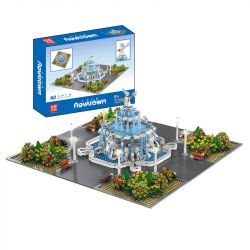 MOULDKING MOULD KING 16003 Xếp hình kiểu Lego MODULAR BUILDINGS Novatown Angel Square Yushang Street View Thiên Thần Thiên Thần 2960 khối