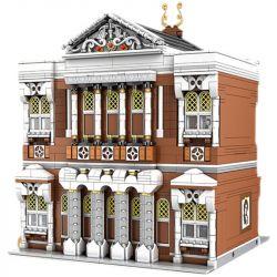MOULDKING MOULD KING 16032 Xếp hình kiểu Lego MODULAR BUILDINGS Novatown Concert Hall Yushang Street View Xiaocheng Playing Hall Xiaocheng Chơi Hội Trường 2875 khối
