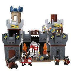 NOT Lego Duplo DUPLO 4777 Knights' Castle, HYSTOYS HONGYUANSHENG AOLEDUOTOYS  HG-1278 1278 HG1278 Xếp hình Tấn Công Lâu đài Hiệp Sỹ 172 khối