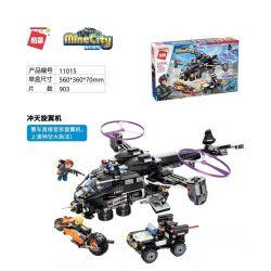 Enlighten 11015 Qman 11015 Xếp hình kiểu Lego MINECITY My City Tiantian Rotor Tiantian Rotor. 903 khối