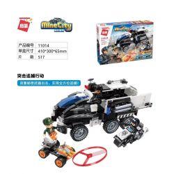 Enlighten 11014 Qman 11014 Xếp hình kiểu Lego MINECITY My City Assault Pursuit Cuộc Tấn Công Theo đuổi 517 khối
