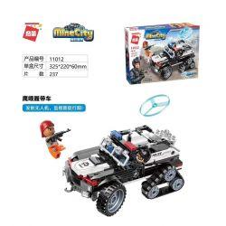 Enlighten 11012 Qman 11012 Xếp hình kiểu Lego MINECITY My City Hawk Chim ưng 237 khối