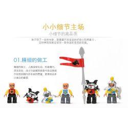 NOT LEGO Duplo 4777 Knights' Castle, Hystoys HongYuanSheng Aoleduotoys HG-1278 Xếp hình Tấn Công Lâu đài Hiệp Sỹ 172 khối