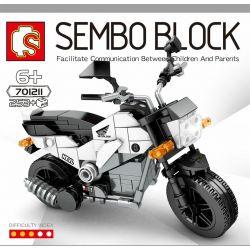 SEMBO 701211 Xếp hình kiểu Lego MOTO Enjoy The Ride Honda NAVI 110 Pedal Adventure Motorcycle Xe Máy Phiêu Lưu đạp Xe đạp Honda Navi 110 253 khối