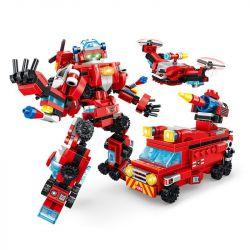 PanlosBrick 620001 Panlos Brick 620001 Xếp hình kiểu Lego SUPER WARRIOS Super Warrior Change Warrior Firecro Firecro.