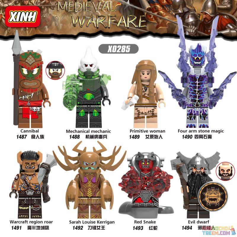 XINH 1487 1488 1489 1490 1491 1492 1493 1494 X0285 0285 Xếp hình kiểu Lego MEDIEVAL WARFARE Hundreds Of People 8 Middle Ages War Hàng Trăm Người 8 Chiến Tranh Thời Trung Cổ gồm 8 hộp nhỏ