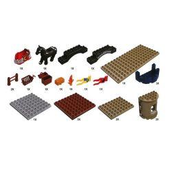 HYSTOYS HONGYUANSHENG AOLEDUOTOYS  HG-1312 1312 HG1312 Xếp hình kiểu Lego Duplo DUPLO Castle Đánh chiếm lâu đài trung cổ 2 tầng 82 khối