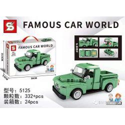 SHENG YUAN SY 5125 Xếp hình kiểu Lego RACERS Ford F-1 Famous Car Ford Pelica F-1 332 khối