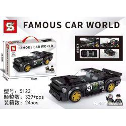 SHENG YUAN SY 5123 Xếp hình kiểu Lego RACERS Famous Car Ford Mustang Ford Mustang. 329 khối