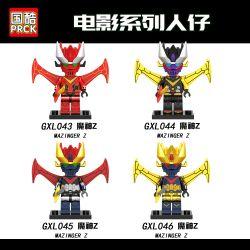 PRCK GXL043 GXL044 GXL045 GXL046 Xếp hình kiểu Lego COLLECTABLE MINIFIGURES Mazinger Z Hanzi 4 Devil Z Quỷ Z. gồm 4 hộp nhỏ