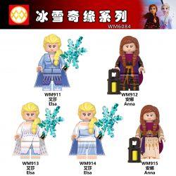 WM 6084 911 912 913 914 915 Xếp hình kiểu Lego COLLECTABLE MINIFIGURES 5 Models Ice Snow Qiyuan Series Sê-ri Băng Tuyết Qiyuan gồm 4 hộp nhỏ