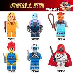 WM 359 360 361 362 363 364 6010 Xếp hình kiểu Lego COLLECTABLE MINIFIGURES House 6 Hu Wei Warrior Series Chuỗi Chiến Binh Hu Wei gồm 6 hộp nhỏ