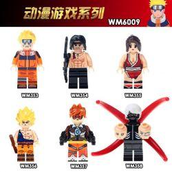 WM 353 354 355 356 357 358 6009 Xếp hình kiểu Lego COLLECTABLE MINIFIGURES House 6 Anime Game Series Sê-ri Trò Chơi Anime gồm 6 hộp nhỏ