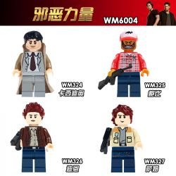 WM 324 325 326 327 6004 Xếp hình kiểu Lego COLLECTABLE MINIFIGURES Hanzi 4 Evil Force Lực Lượng độc ác gồm 4 hộp nhỏ