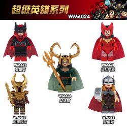 WM 462 463 464 465 466 6024 Xếp hình kiểu Lego COLLECTABLE MINIFIGURES 5 Models Superhero Series Sê-ri Siêu Anh Hùng gồm 6 hộp nhỏ