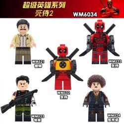 WM 521 522 523 524 532 6034 Xếp hình kiểu Lego COLLECTABLE MINIFIGURES 5 Models Dead Waiter 2 Người Phục Vụ Chết 2. gồm 6 hộp nhỏ