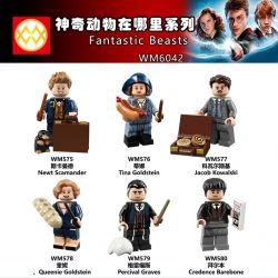 WM 575 576 577 578 579 580 6042 Xếp hình kiểu Lego COLLECTABLE MINIFIGURES House 6 Where Is The Magical Animal? Động Vật Ma Thuật ở đâu? gồm 6 hộp nhỏ