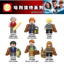 WM 597 598 599 600 601 602 6046 Xếp hình kiểu Lego COLLECTABLE MINIFIGURES House 6 Harry Potter Series Harry Potter Series. gồm 6 hộp nhỏ