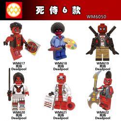 WM 6050 617 618 619 620 621 622 Xếp hình kiểu Lego COLLECTABLE MINIFIGURES House 6 Deadpool Deadpool. gồm 6 hộp nhỏ