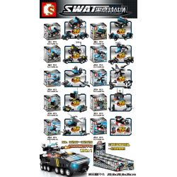 SEMBO 102011 102012 102013 102014 102015 102016 102017 102018 102019 102020 Xếp hình kiểu Lego SWAT SPECIAL FORCE SEWAT Black Eagle Special Police Steel Shield Armored Car 10in1 Xe Bọc Thép Lá Chắn Cả