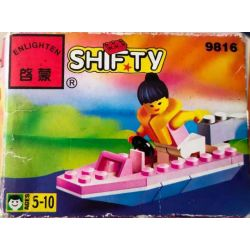 Enlighten 9816 Qman 9816 Xếp hình kiểu Lego TOWN Paradisa Speedboat Holiday Paradise Happy Holiday Salarbo Tàu Cao Tốc Paradisa. 21 khối