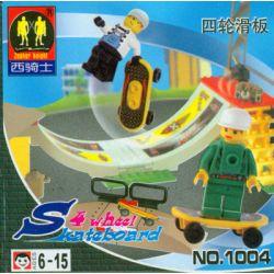 XQL 103 ZEPHYR KNIGHT 1004 Xếp hình kiểu Lego ISLAND XTREME STUNTS Skateboard Challenge Crazy Tu Island Extreme Skate Challenge Thử Thách Trượt Ván 108 khối