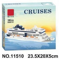 LARI 11510 Xếp hình kiểu Lego PROMOTIONAL MSC Meraviglia MSC Cruises Promotion MSC Mediterranean Shipping Cruises Du Thuyền MSC Meraviglia MSC gồm 2 hộp nhỏ 181 khối