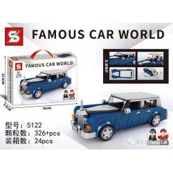 SHENG YUAN SY 5122 Xếp hình kiểu Lego RACERS Famous Car Rolls-Royce Phantom 326 khối