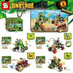 SHENG YUAN SY 1600 Xếp hình kiểu Lego JURASSIC WORLD Dinosaur World 4 Rapid Dragon Chariots, Wounded Dragon Chariots, Pluto Dragon Battle, Shuanglong Dragon 4 Chariots Dragon Nhanh, Chariots Rồng Bị T