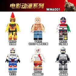 WM 300 301 303 304 305 6001 Xếp hình kiểu Lego COLLECTABLE MINIFIGURES House 6 Movie Anime Series Phim Anime Phim gồm 6 hộp nhỏ