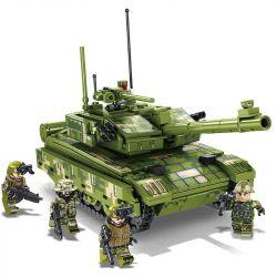 SEMBO 105425 105426 105427 105428 Xếp hình kiểu Lego IRON BLOOD HEAVY EQUIPMENT Iron Plate 99A Main Battle Tank 4 59 Sets Of Tanks, QN-506 Chariots, 05-style Two-inch Battle, 04 Stepwork Chariot 99A B