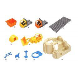 NOT Lego Duplo DUPLO 10518 My First Construction Site, HYSTOYS HONGYUANSHENG AOLEDUOTOYS  GM-5002 5002 GM5002 HG-1334 1334 HG1334 Xếp hình Công Trường Xây Dựng Lớn 59 khối