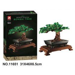 BLANK X19004 19004 TANK 11651 Xếp hình kiểu Lego CREATOR EXPERT Bonsai Tree Cây Bonsai. 878 khối