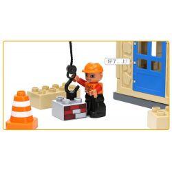 Hystoys HongYuanSheng Aoleduotoys HG-1333 Xếp hình kiểu LEGO Duplo My First Construction Site Công Trường Xây Dựng Nhỏ 36 khối