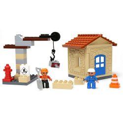 HYSTOYS HONGYUANSHENG AOLEDUOTOYS  HG-1333 1333 HG1333 Xếp hình kiểu Lego Duplo DUPLO My First Construction Site Công Trường Xây Dựng Nhỏ 36 khối
