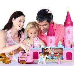 NOT Lego Duplo DUPLO 6154 Cinderella's Castle, HYSTOYS HONGYUANSHENG AOLEDUOTOYS  HG-1346 1346 HG1346 Xếp hình lâu đài Lọ Lem 77 khối