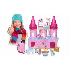 NOT LEGO Duplo 6154 Cinderella's Castle, Hystoys HongYuanSheng Aoleduotoys HG-1346 Xếp hình lâu đài Lọ Lem 77 khối