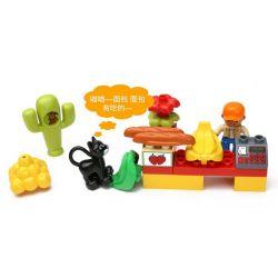 NOT Lego Duplo DUPLO 5683 Market Place, HYSTOYS HONGYUANSHENG AOLEDUOTOYS  HG-1354 1354 HG1354 Xếp hình chợ phiên nhộn nhịp 25 khối