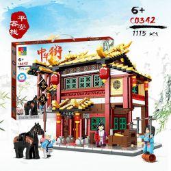 CHAOSHENG C0342 0342 WOMA C0342 0342 Xếp hình kiểu Lego CHINATOWN China Street Ping An Inn Nhà Trọ Hòa Bình 1115 khối