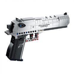 PanlosBrick 670006 Panlos Brick 670006 Xếp hình kiểu Lego BLOCK GUN Desert Eagle Pistol Creeper's Mine Accident Desert Eagle Súng Lục đại Bàng Sa Mạc 360 khối