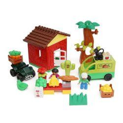 Hystoys Hongyuansheng Aoleduotoys HG-1355 (NOT Lego Duplo 10546 My First Shop ) Xếp hình Phiên Chợ Quê 50 khối