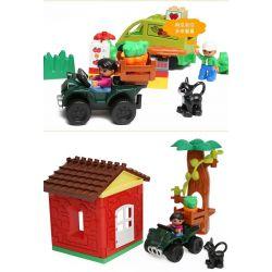 NOT LEGO Duplo 10546 My First Shop, Hystoys HongYuanSheng Aoleduotoys HG-1355 Xếp hình phiên chợ quê 50 khối