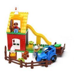 NOT LEGO Duplo 10617 My First Farm, Hystoys HongYuanSheng Aoleduotoys HG-1363 Xếp hình nông trại siêu nhỏ 41 khối