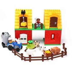 Hystoys Hongyuansheng Aoleduotoys HG-1364 (NOT Lego Duplo 4665 Big Farm ) Xếp hình Trang Trại Lớn 70 khối